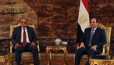 President Jacob Zuma holding official talks with President Abdel Fattah el-Sisi of the Arab Republic of Egypt during his Working Visit in Cairo